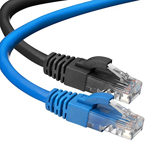 Cat 6 Ethernet Cable UP to Gigabit 1000 Base-T LAN Higher Bandwidth Cat6 Internet Network Cable 10FT 5PCS Flat Ethernet Patch Cable Short Computer Networking Cord with Snagless RJ45 Connectors